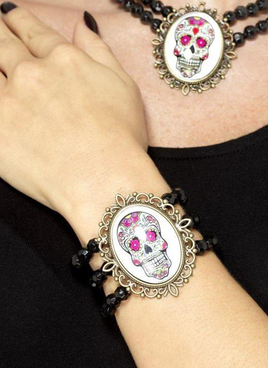 Day of the Dead Beaded Bracelet