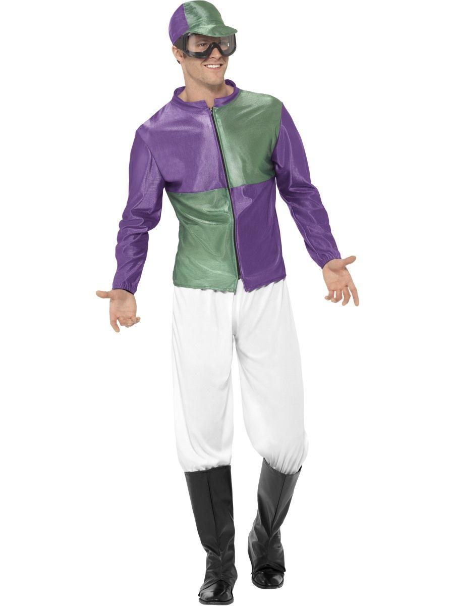 Jockey Costume Green & Purple