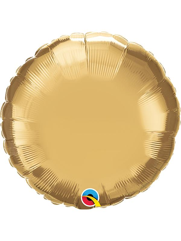 Foil Balloon Round Chrome Gold
