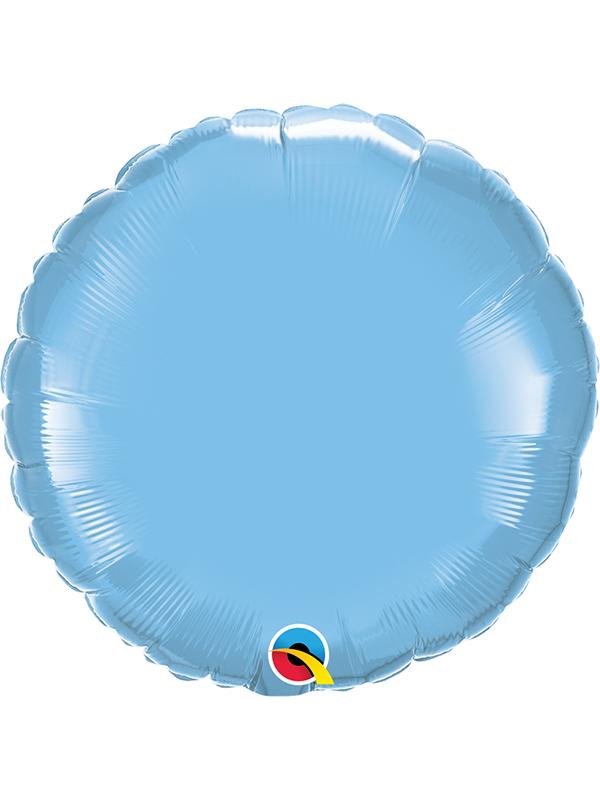 Foil Balloon Round Pale Blue