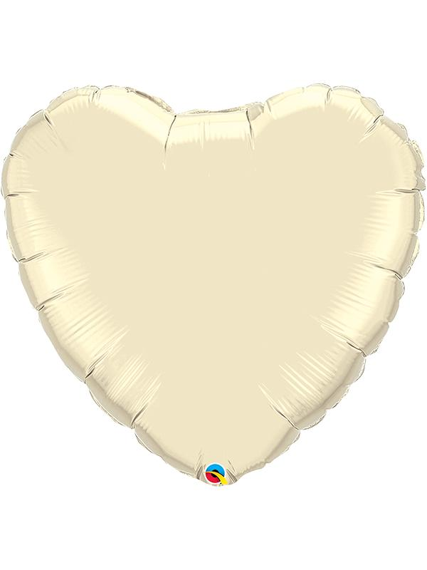 Foil Balloon Heart Ivory
