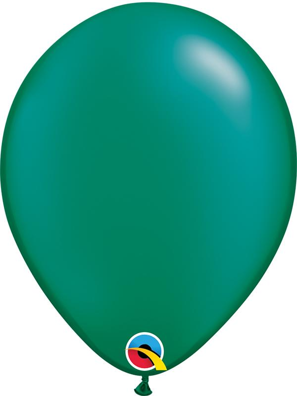 Pearl Latex Balloons Emerald Green