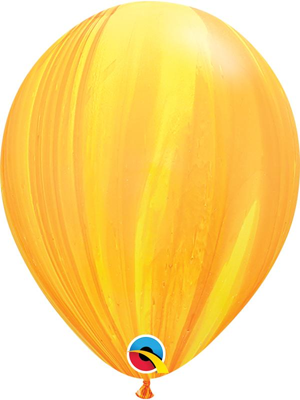 SuperAgate Latex Balloons Yellow