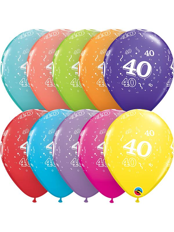 Latex Balloons Age 40