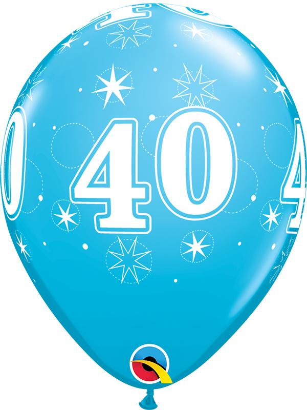 Latex Balloons Blue Age 40