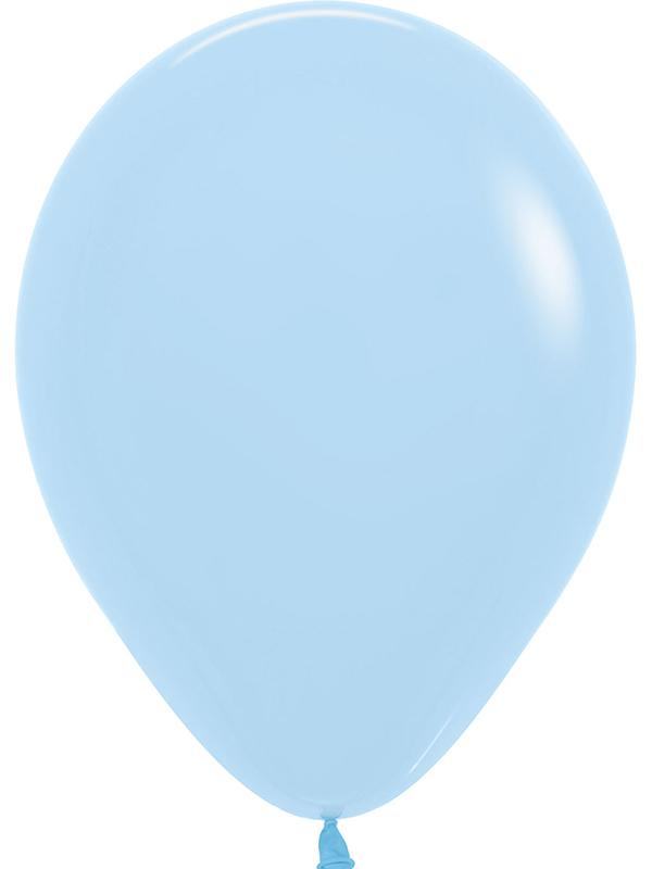 Latex Balloons Pastel Matte Solid Blue