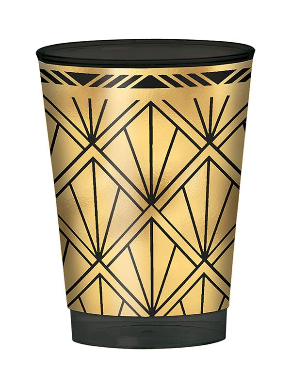 Plastic Tumblers Hollywood Prismatic Gold & Black
