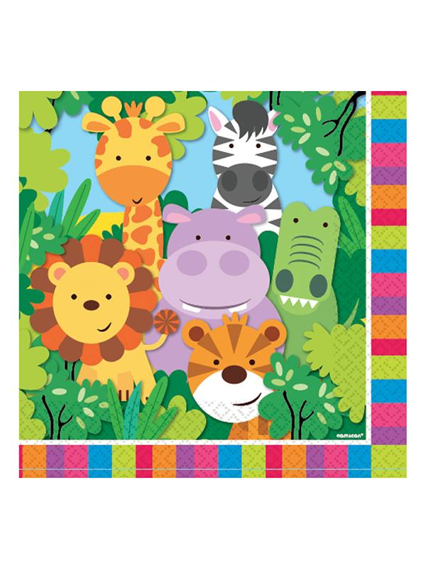 Paper Napkins Jungle Friends