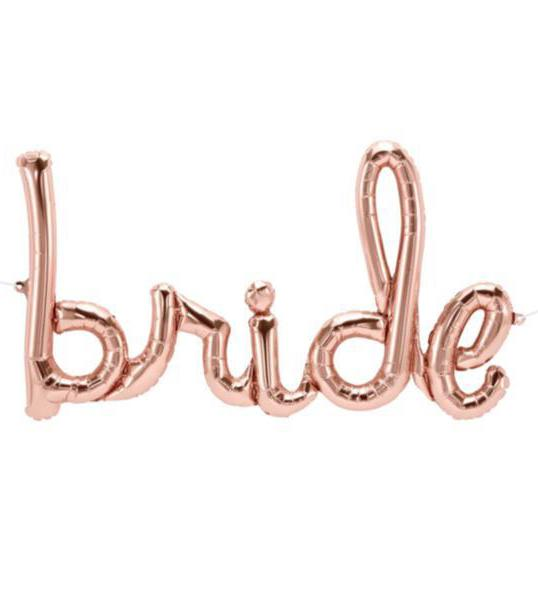 Script Balloon Bride Rose Gold