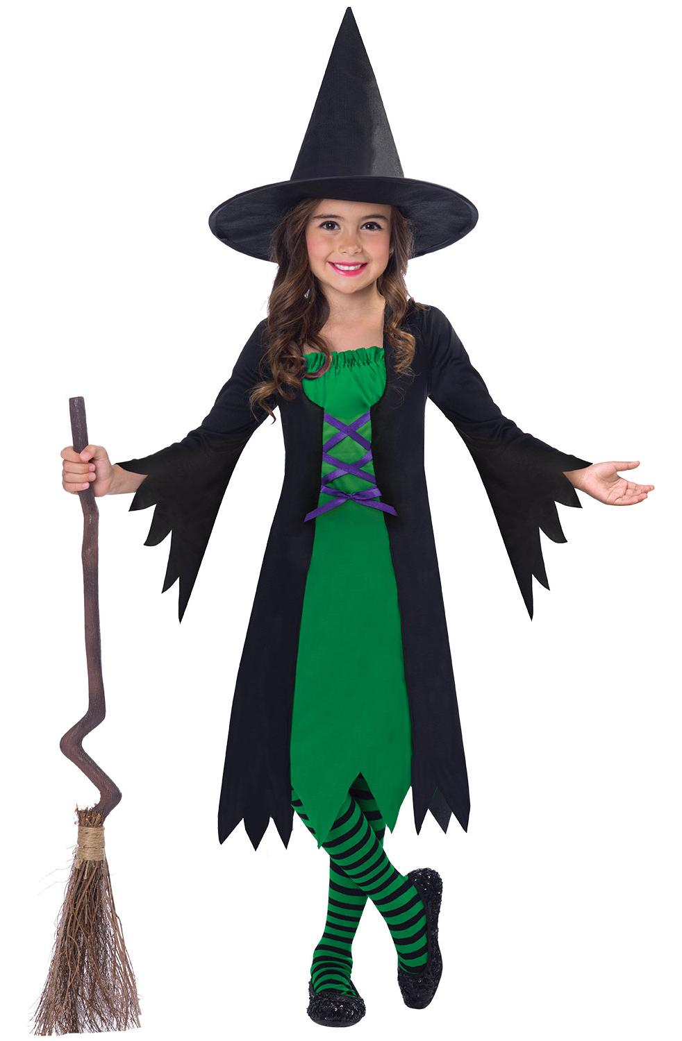 Kids Green Wicked Witch Costume