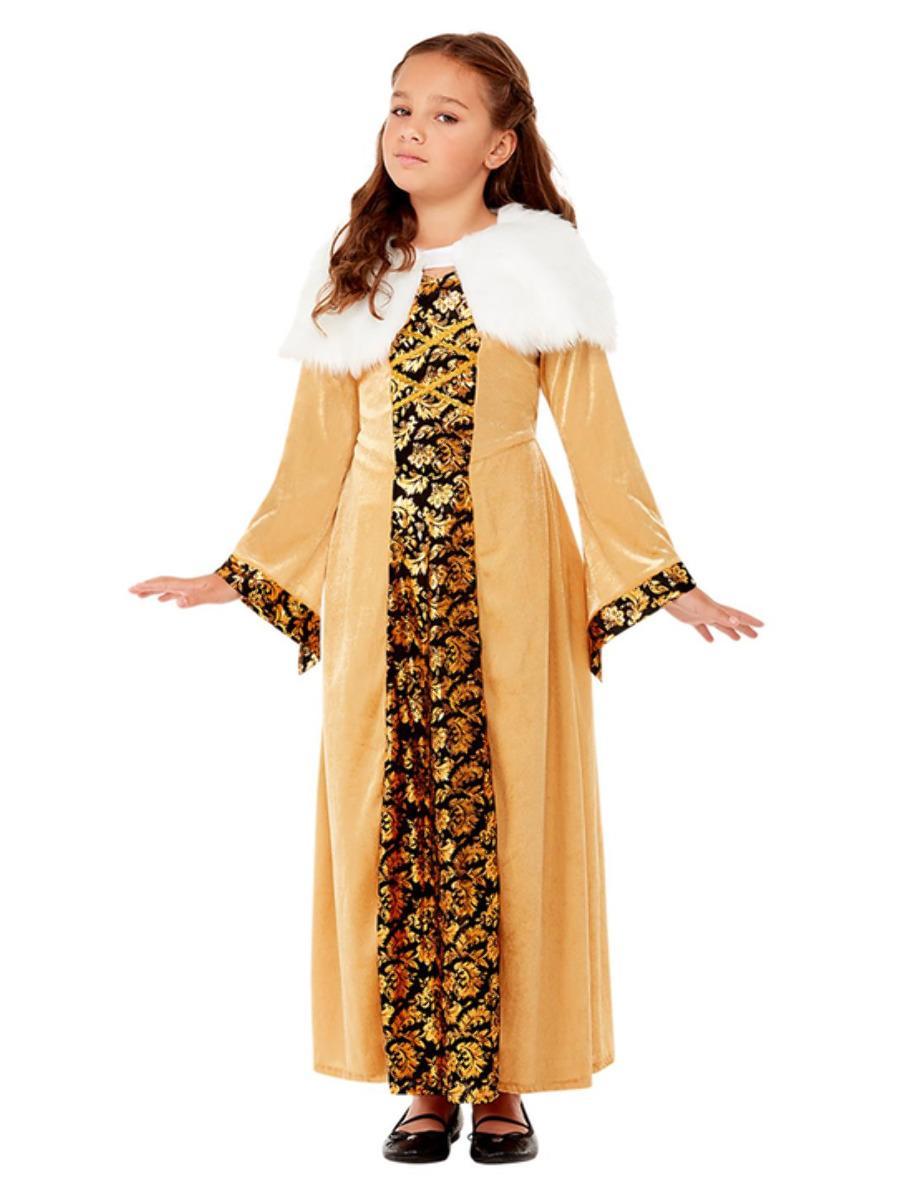 Kids Medieval Countess Costume Gold