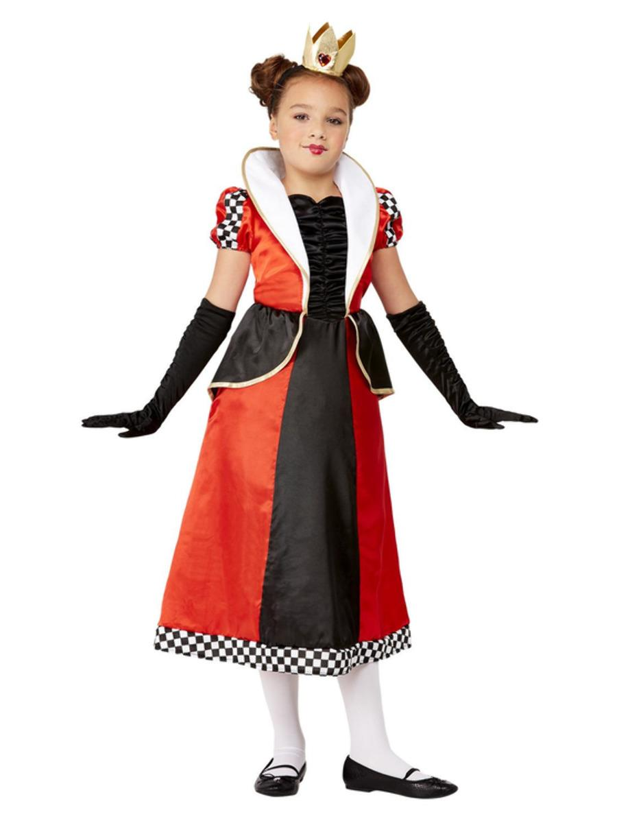 Kids Queen of Hearts Costume Red & Black