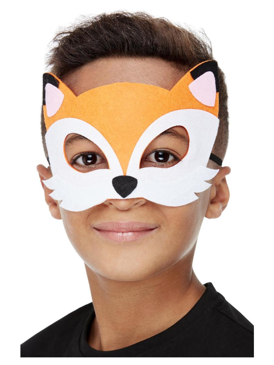 Kids Fox Mask Brown Felt