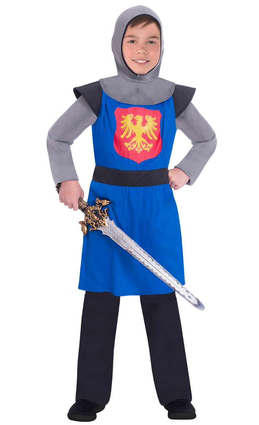 Kids Medieval Knight Costume Blue