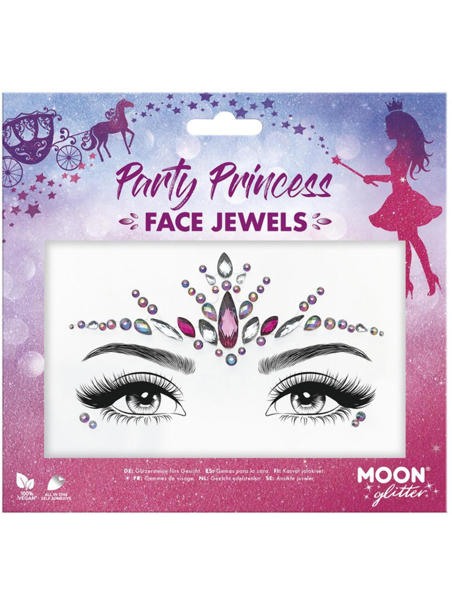 Glitter Face Jewels Party Princess