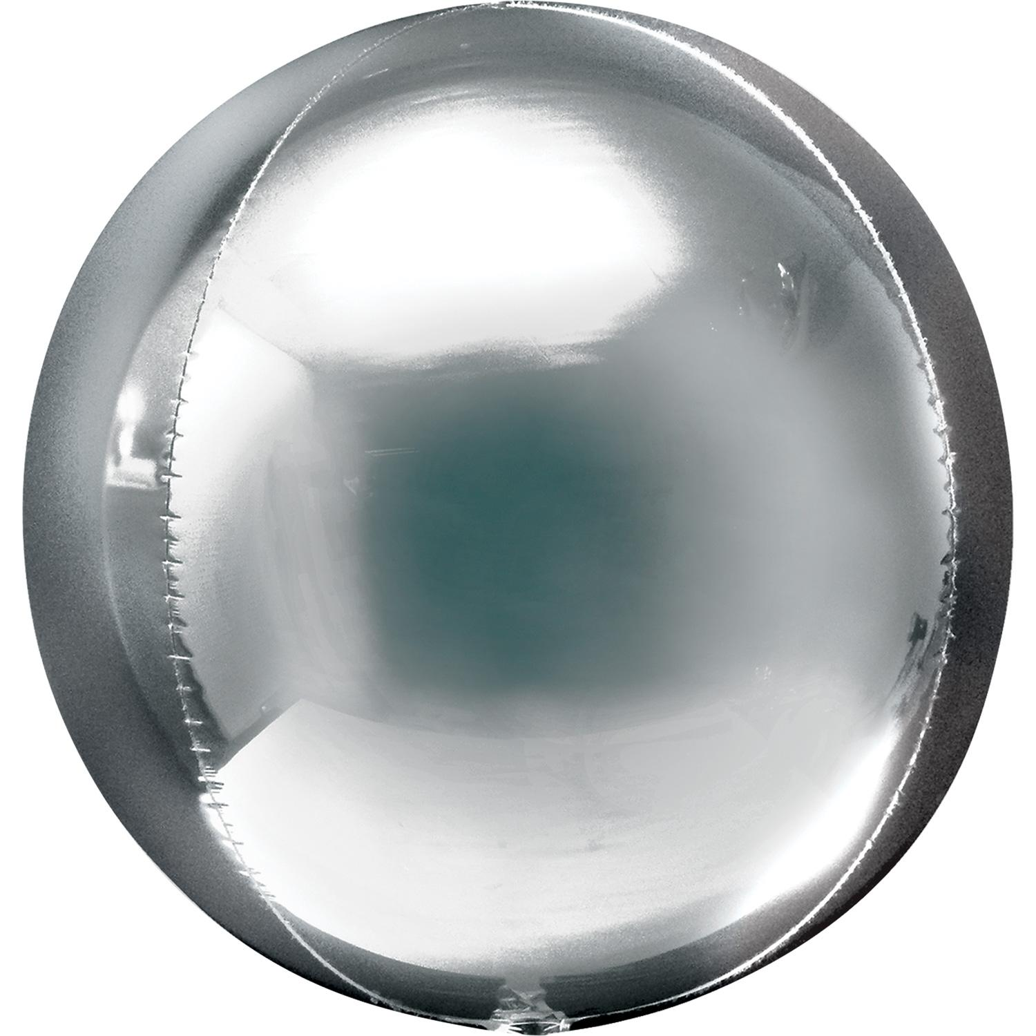 Orbz Foil Balloon Metallic Silver