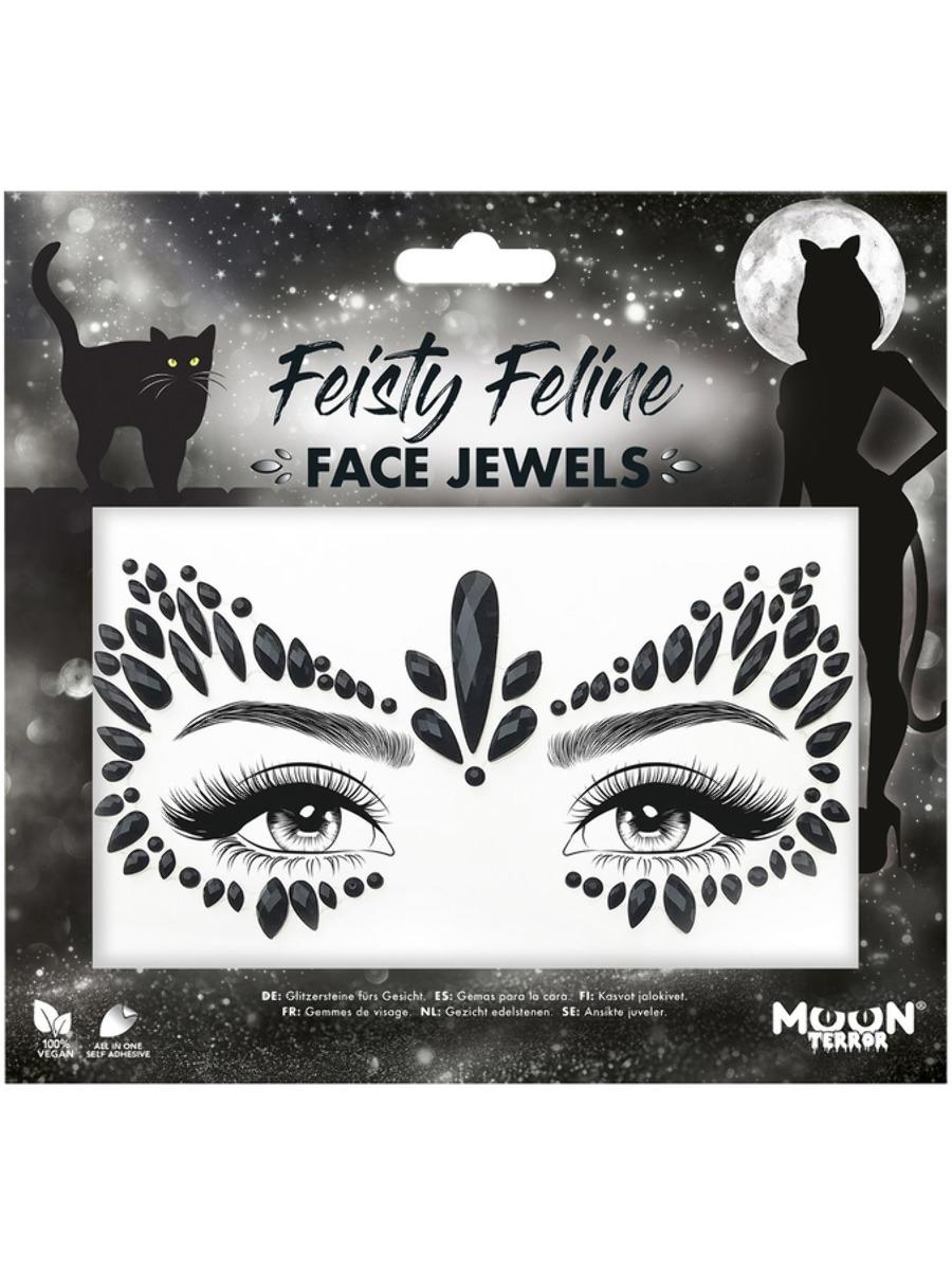 Glitter Face Jewels Feisty Feline