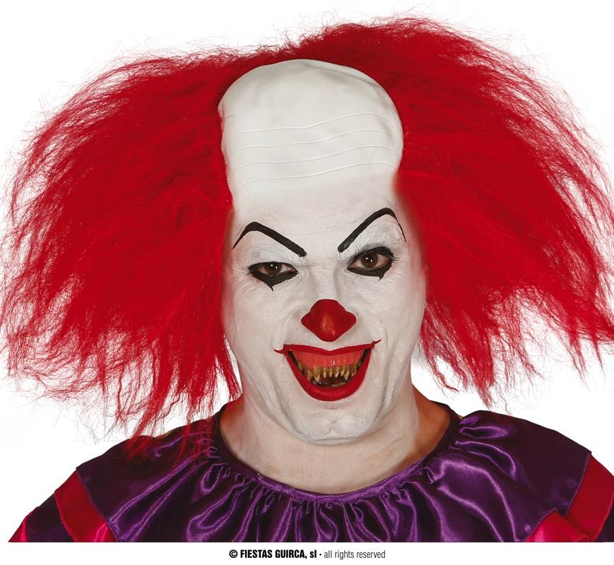Clown Wig with Forehead Red