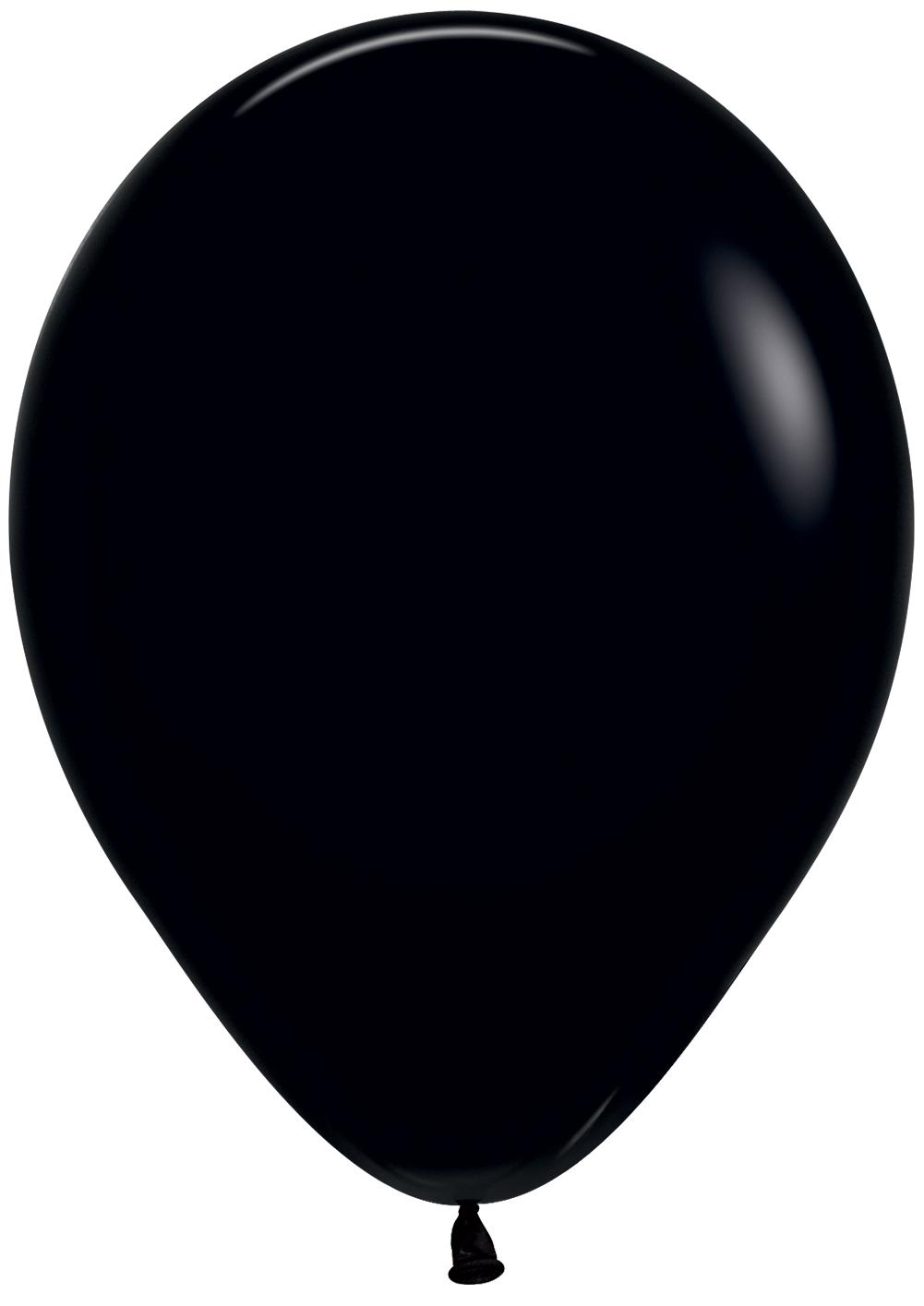 Standard Latex Balloons Onyx Black