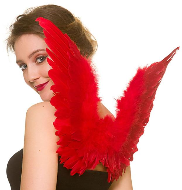 Feathered Angel Wings Red