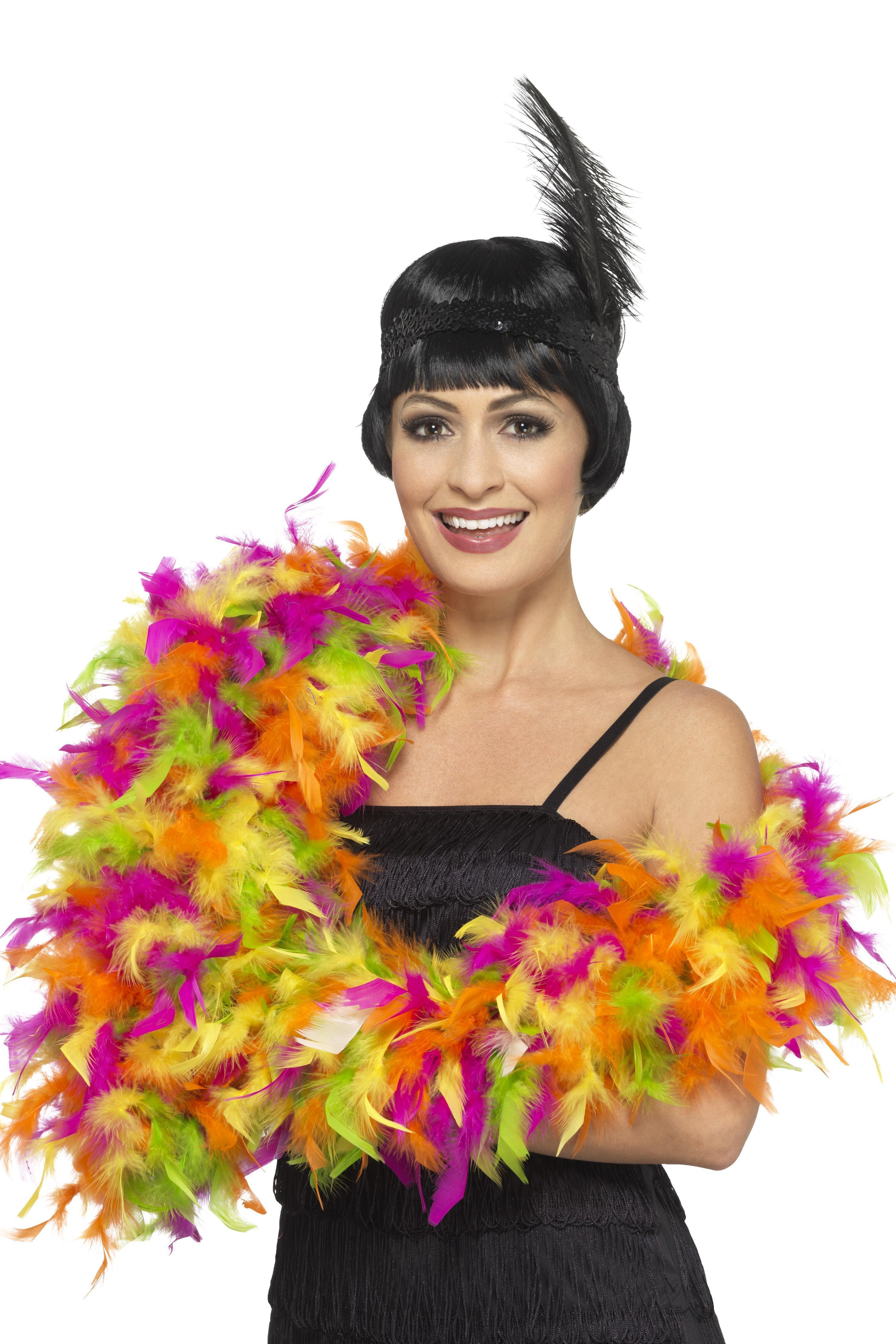Deluxe Feather Boa Mixed Neon