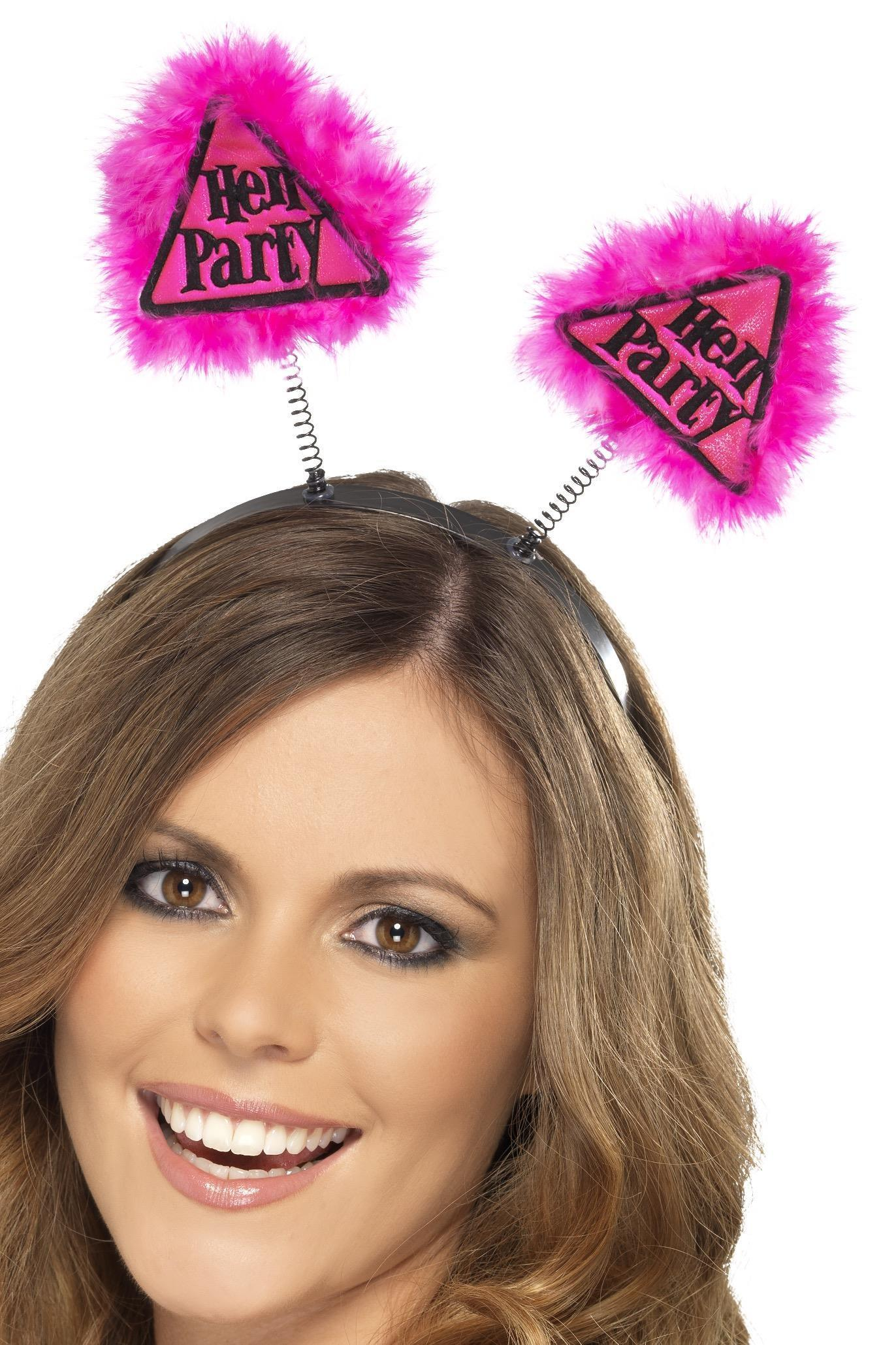Hen Party Warning Boppers Pink