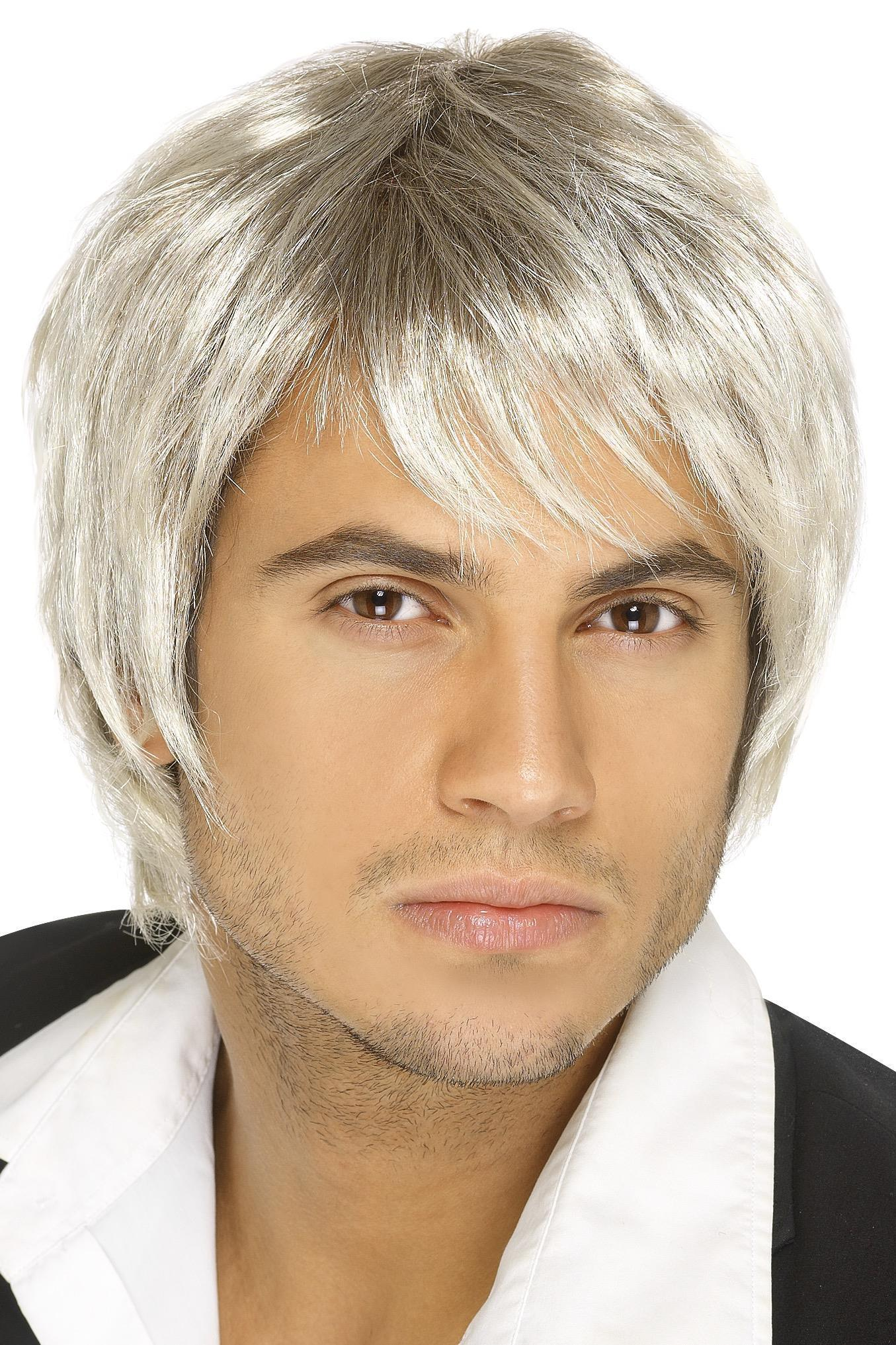 Boy Band Wig Blonde Brown Mix