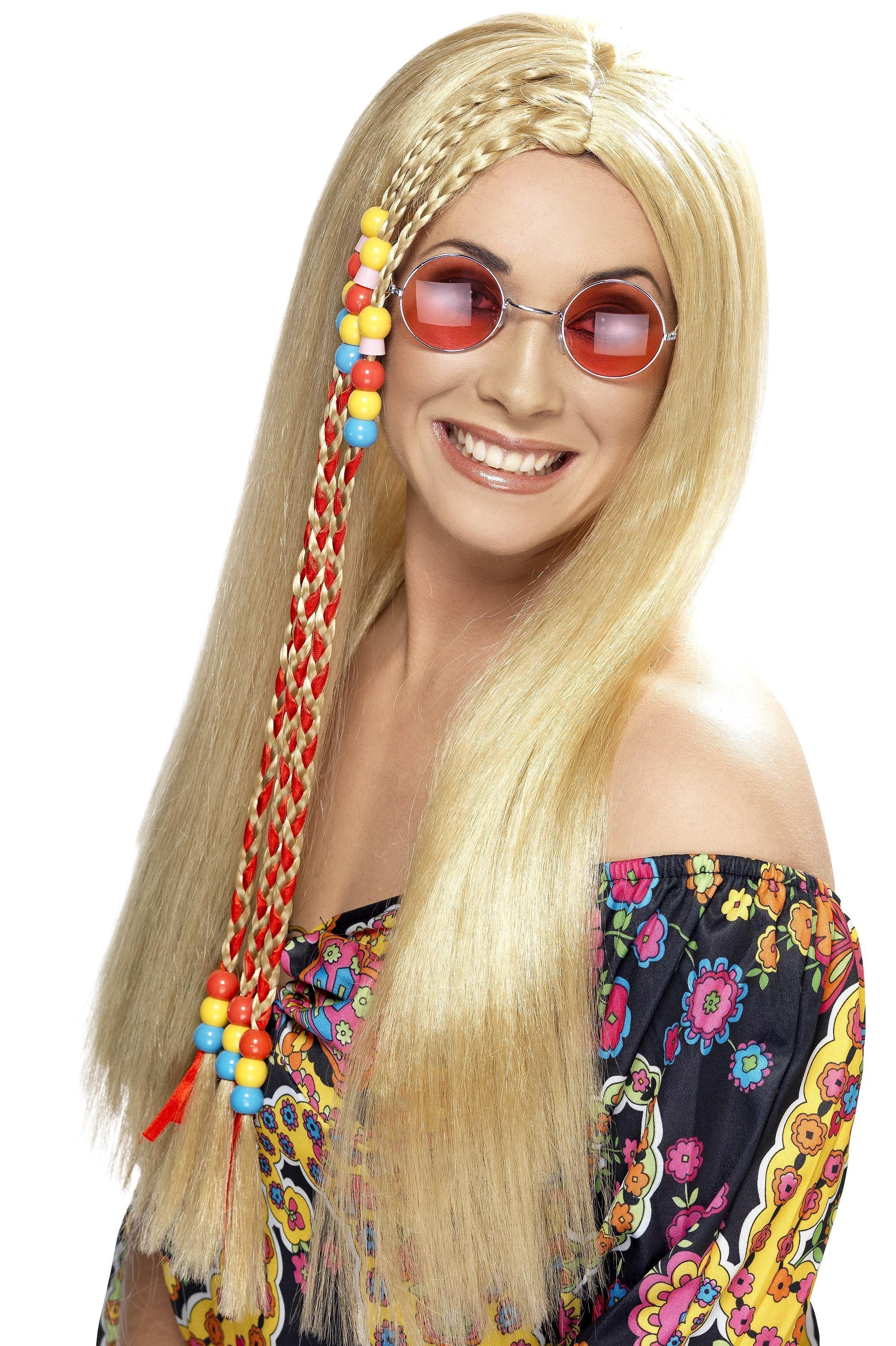 Hippy Party Wig Blonde