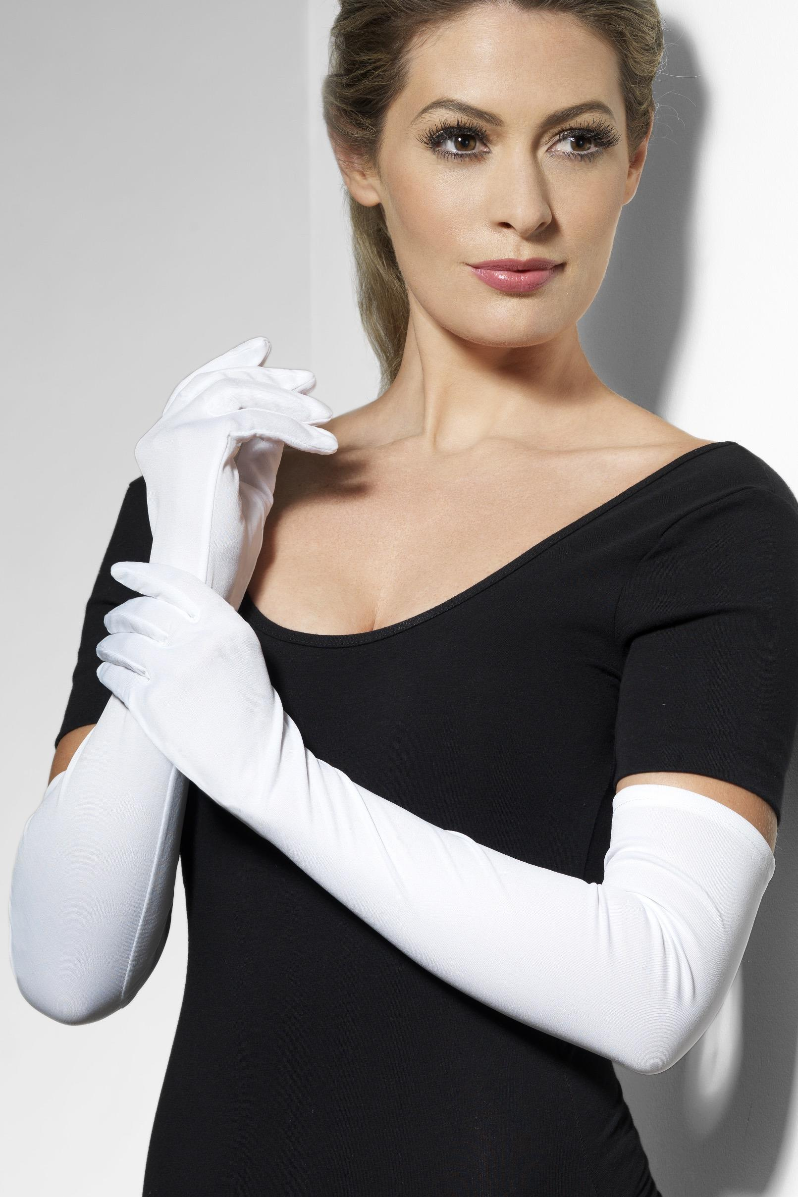 Gloves White Long