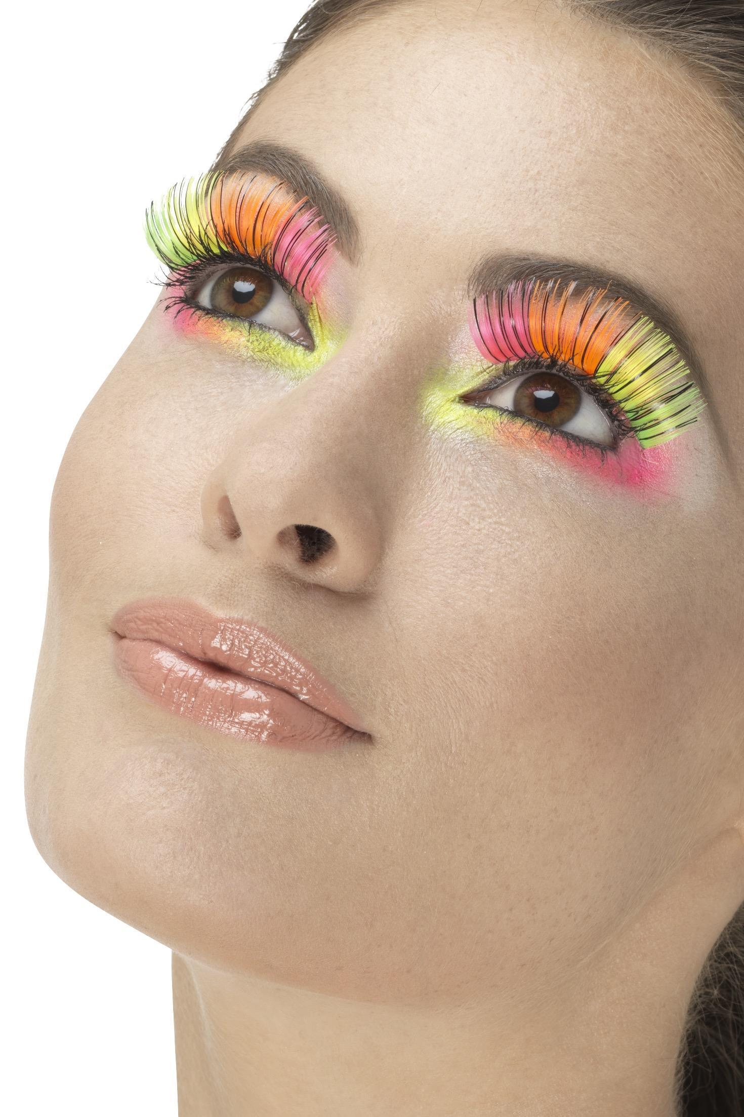 Rainbow Party Eyelashes Neon