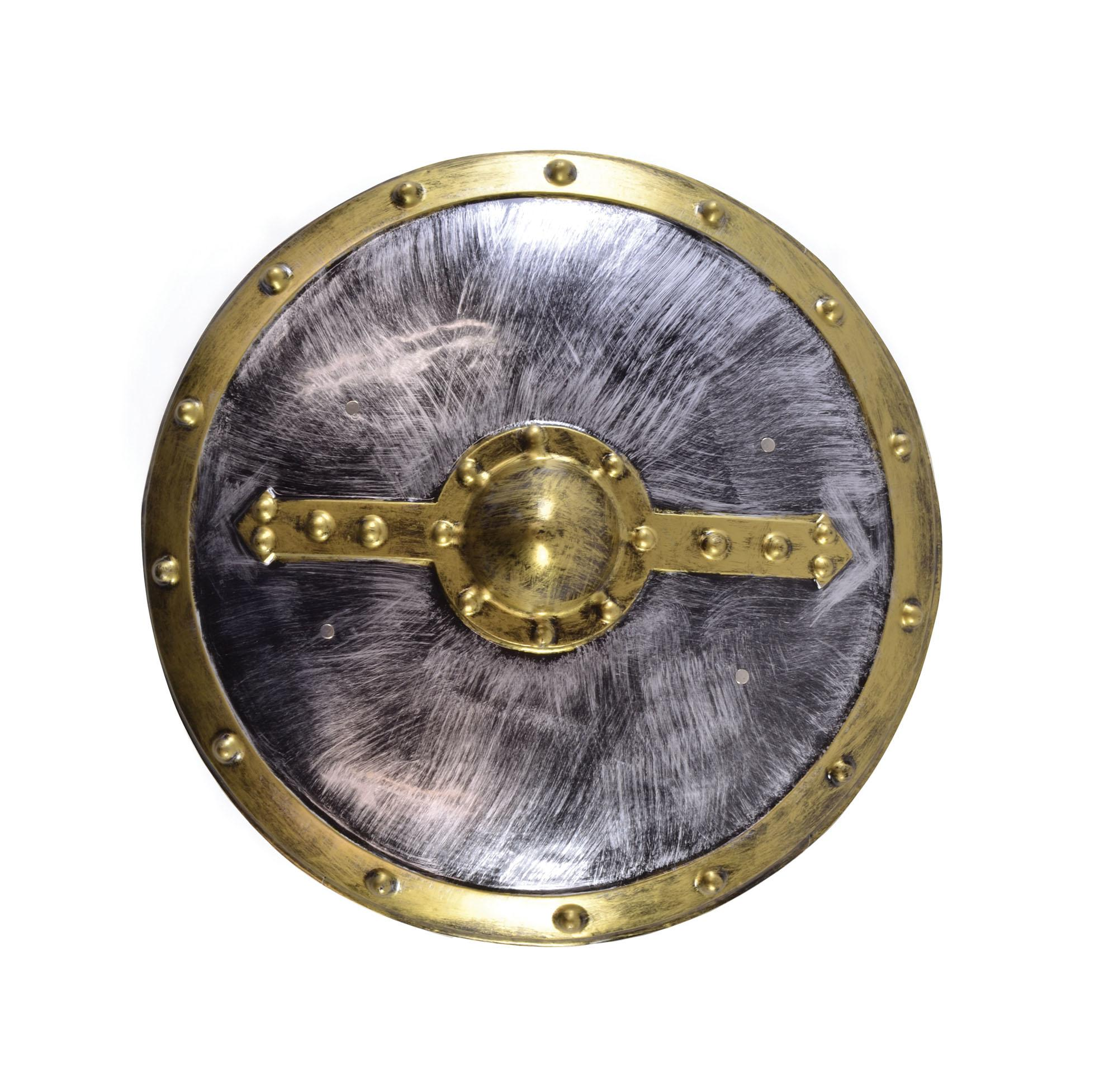 Round Shield Silver & Gold