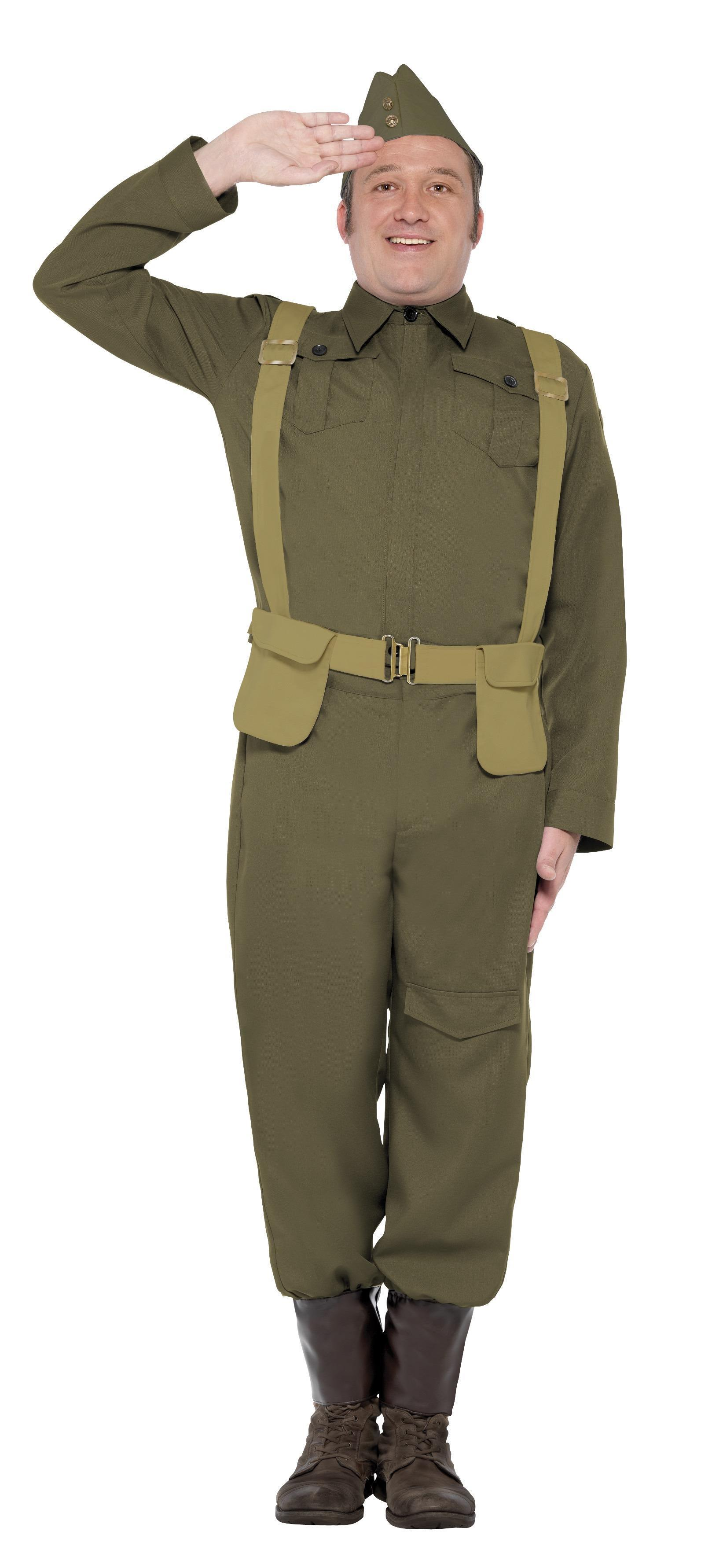 WW2 Home Guard Private Costume Green