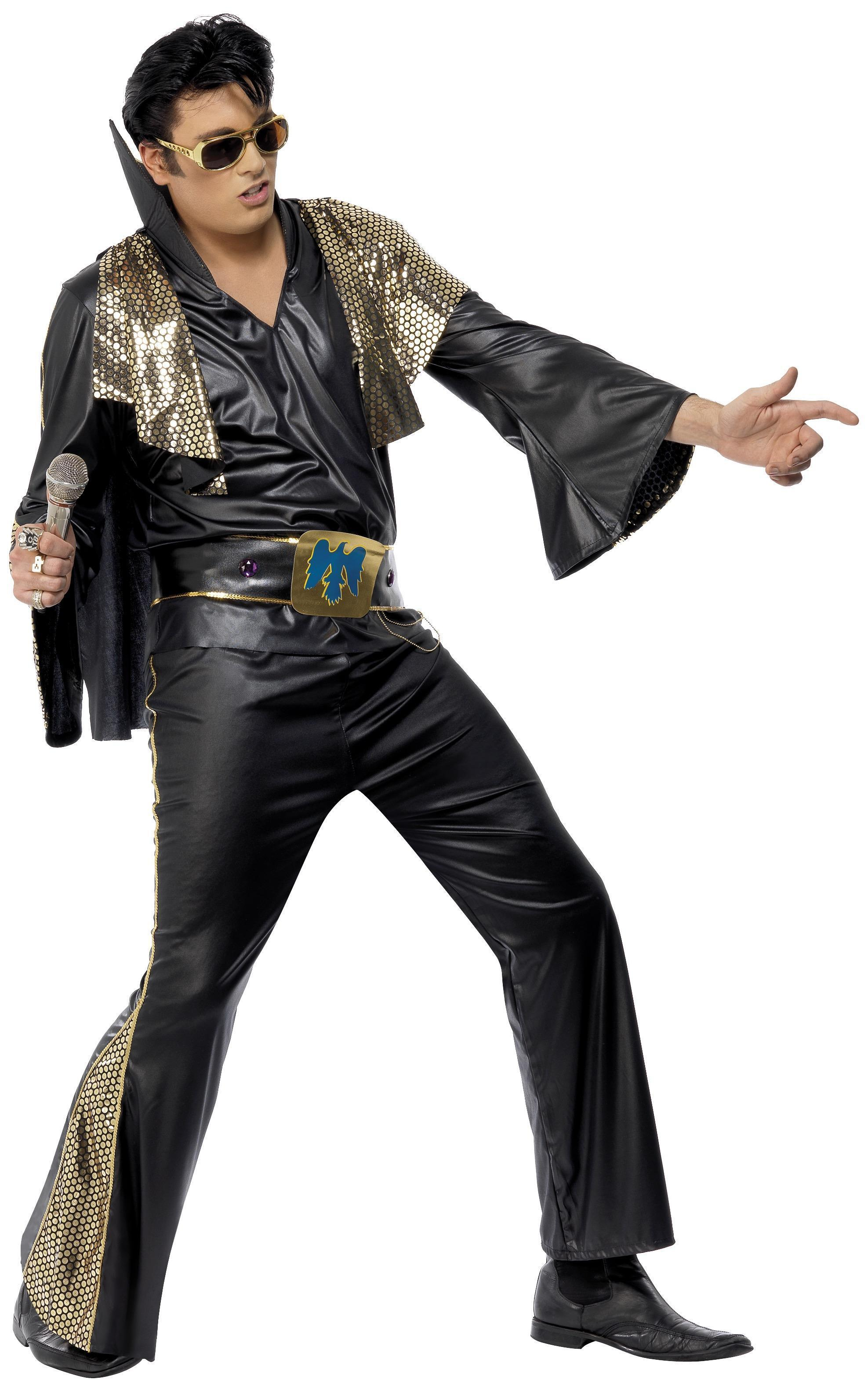 Elvis Presley Costume Black & Gold
