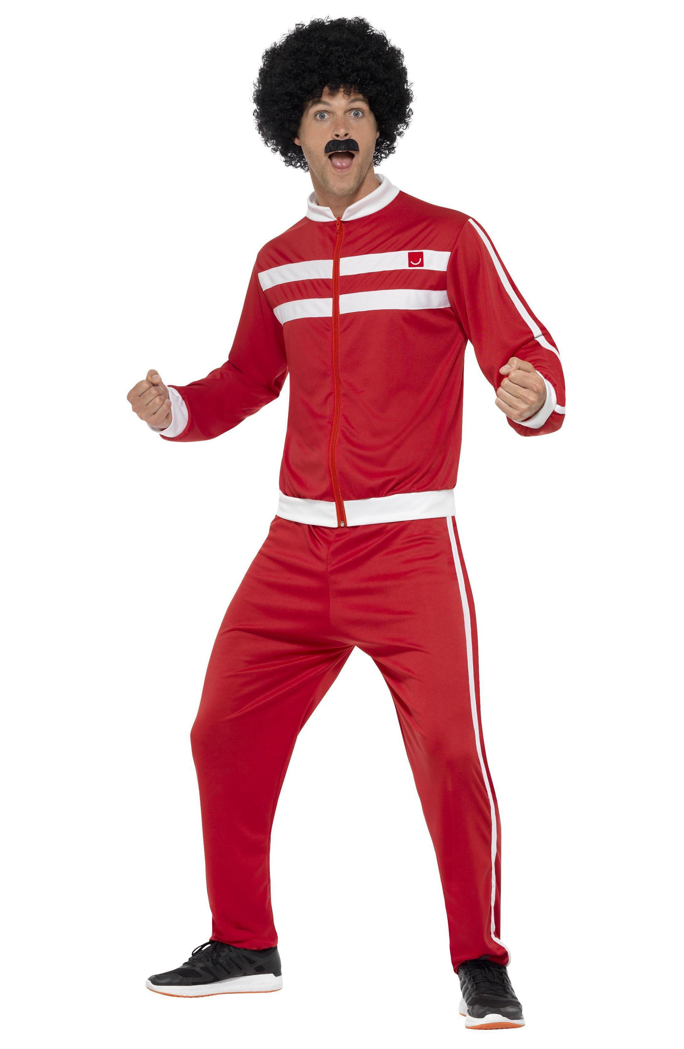 80s Scouser Tracksuit Red & White