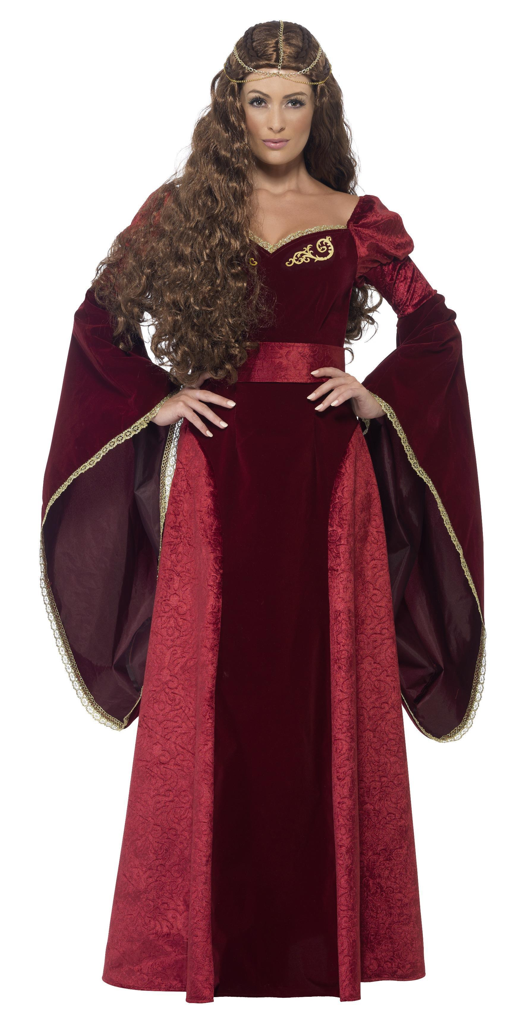 Medieval Queen Deluxe Costume Red