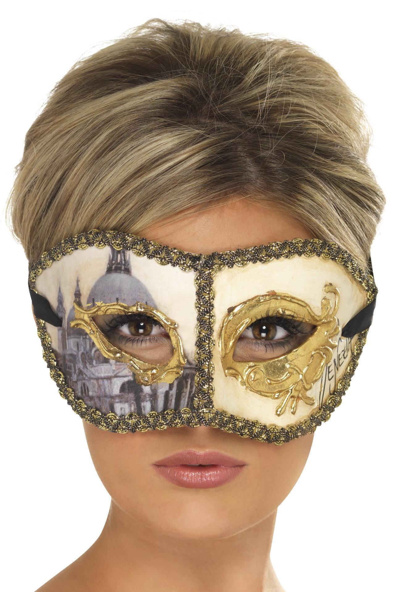 Venetian Colombina Venice Mask Gold
