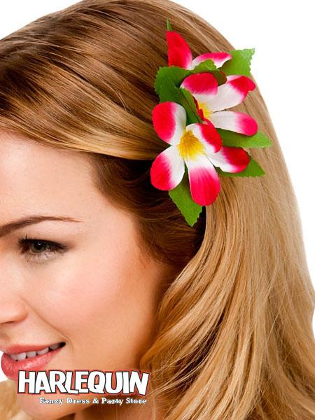 Hawaiian Hair Clip Hot Pink