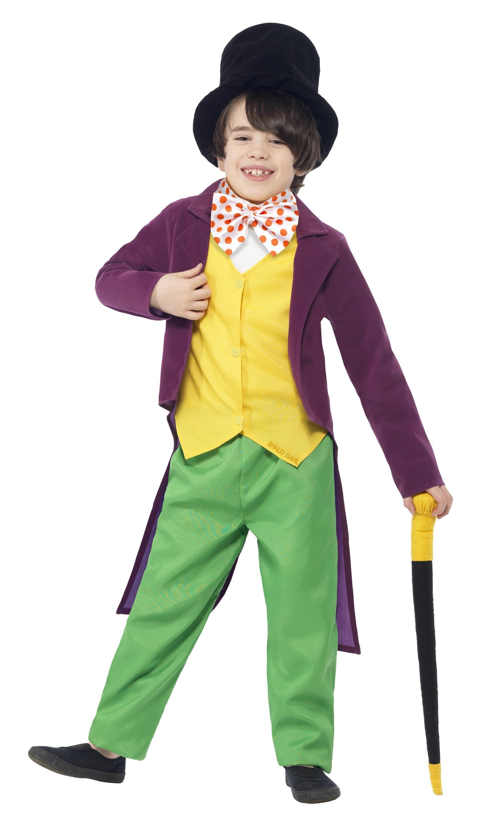 Kids Willy Wonka Costume Roald Dahl