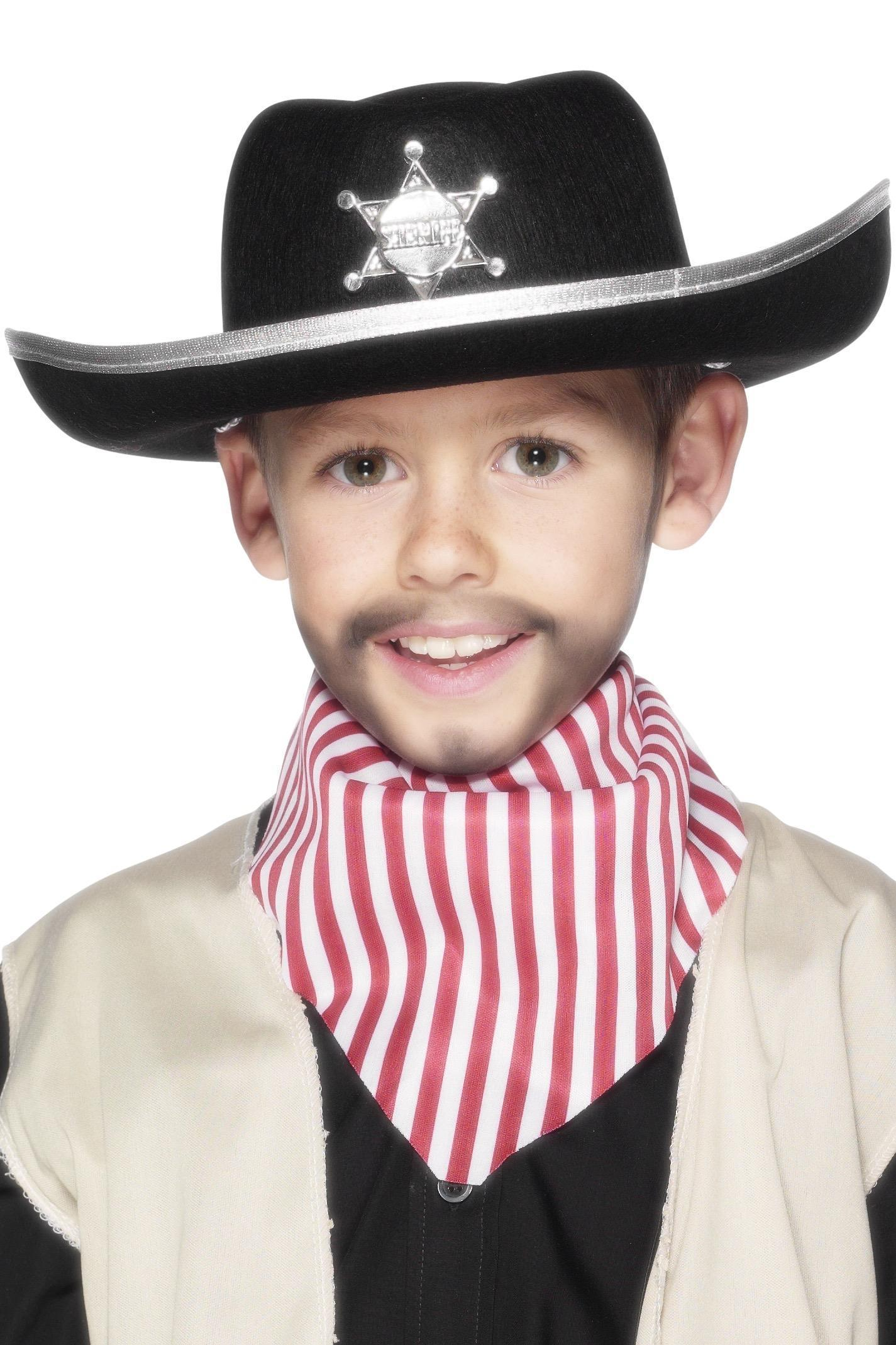 Kids Sheriff Cowboy Hat Black