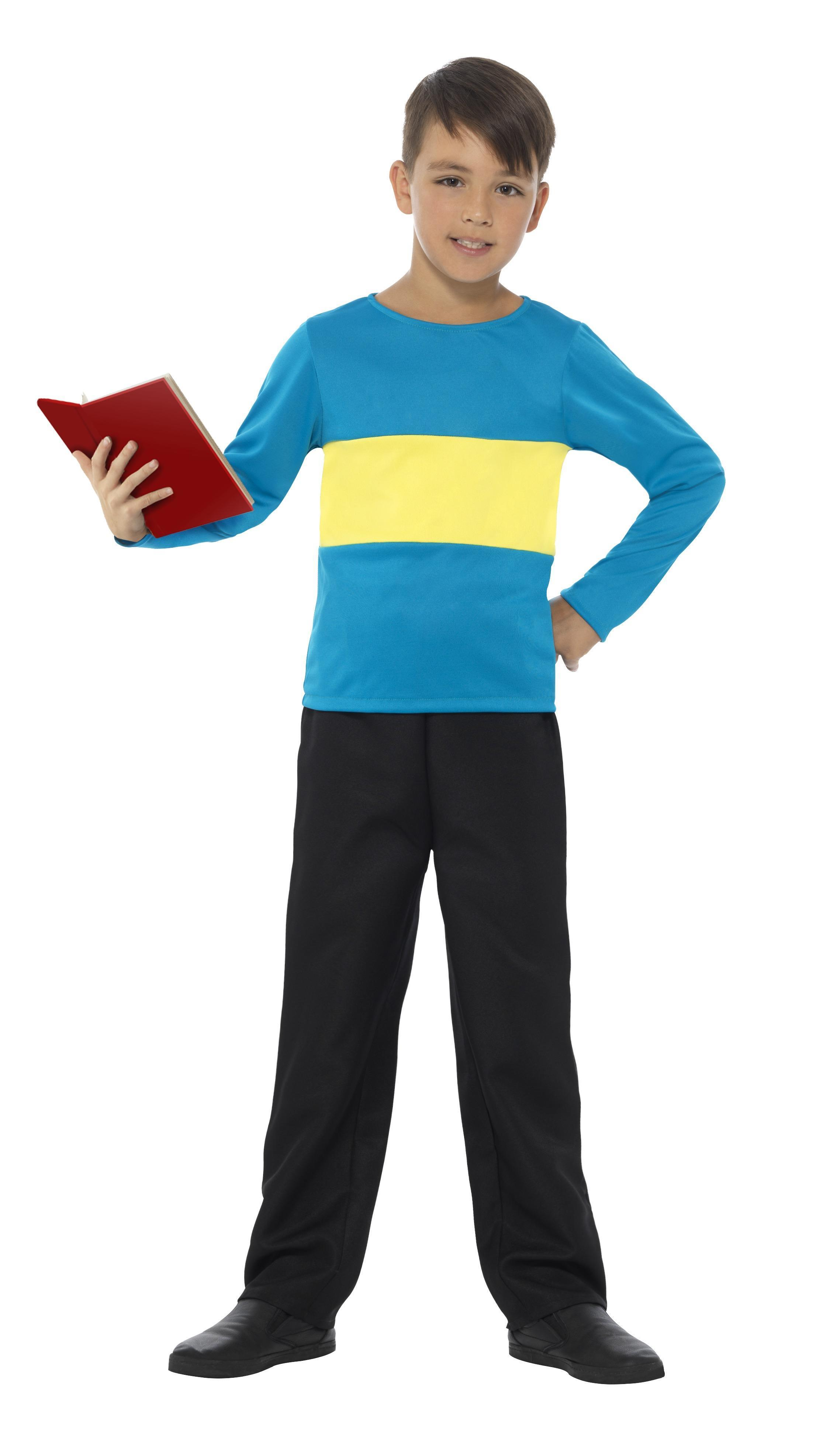 Kids Jumper Blue with Yellow Stripe