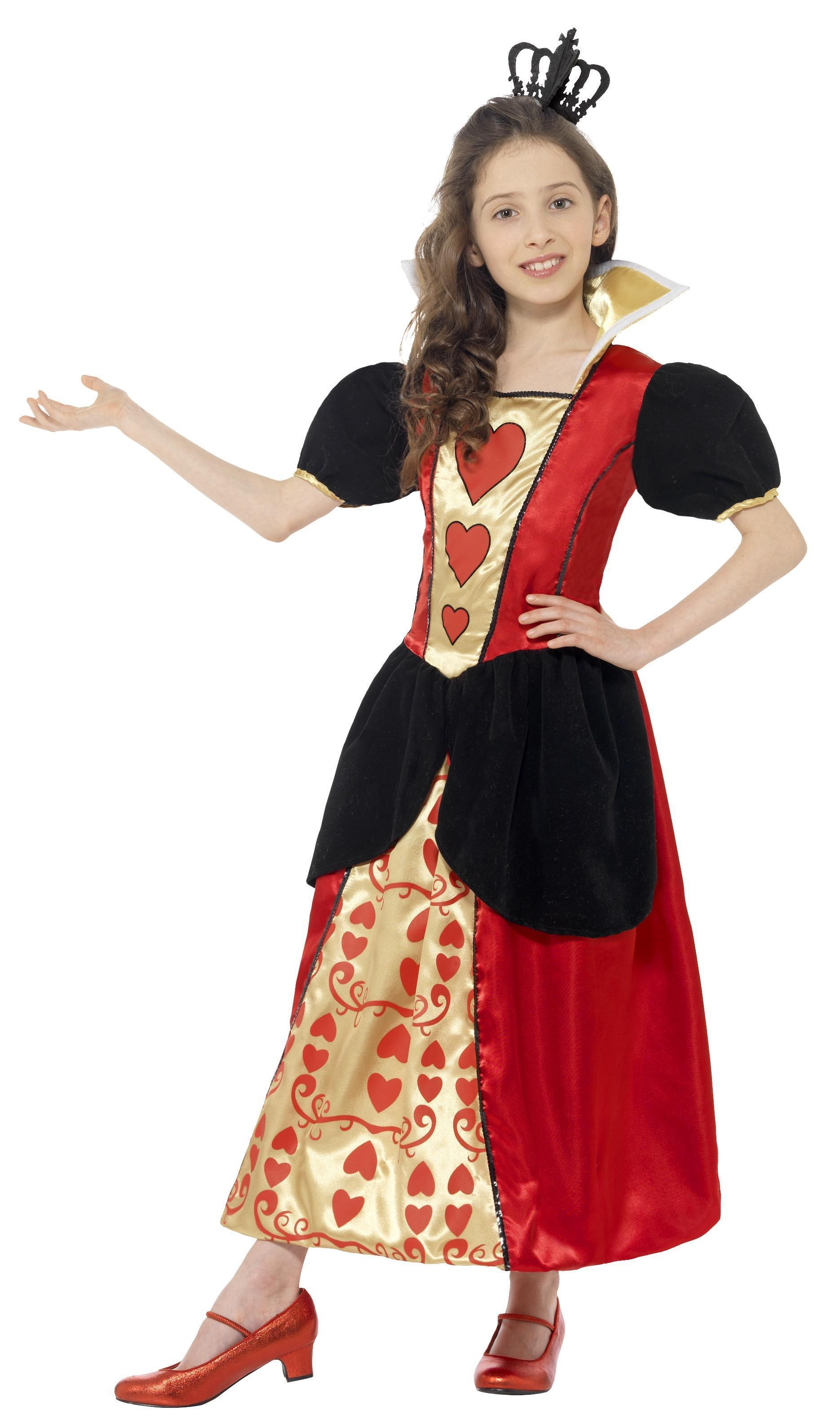 Kids Miss Hearts Costume Red