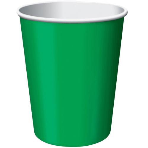 Paper Cups Festive Green 8 Pack