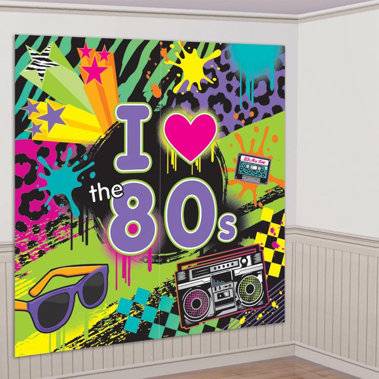 Wall Decorating Kit Totally 80s