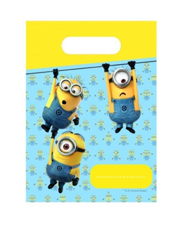 Plastic Party Loot Bags Minions