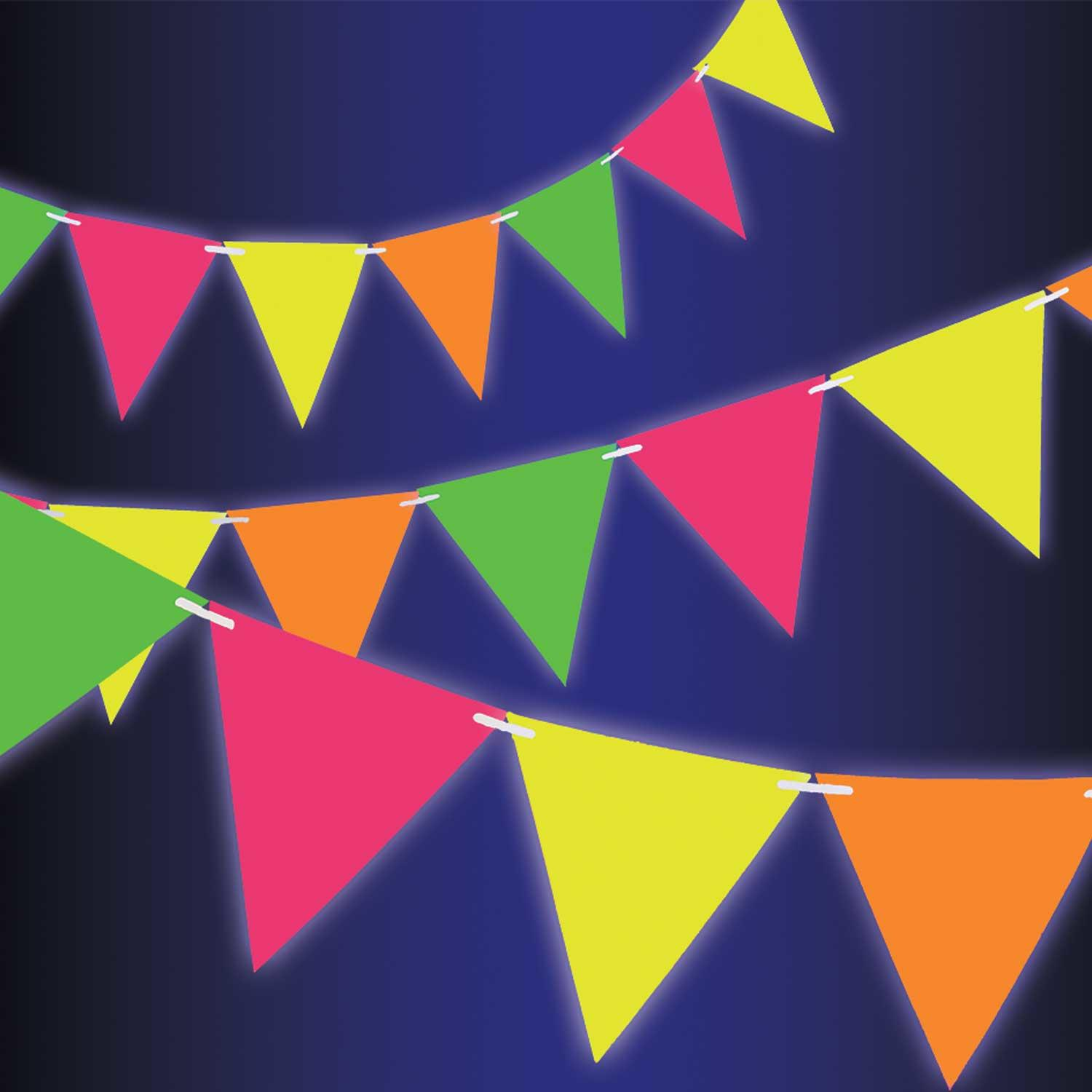 Pennant Bunting Neon