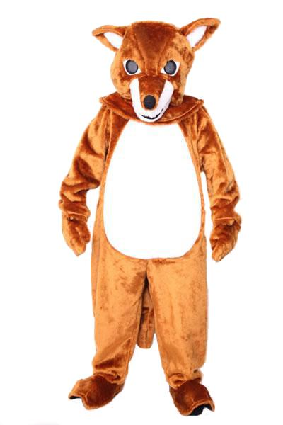 Fox Mascot Hire Costume