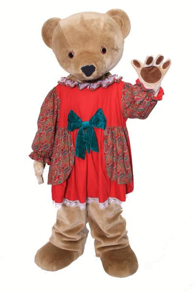 Mama Bear Mascot Hire Costume