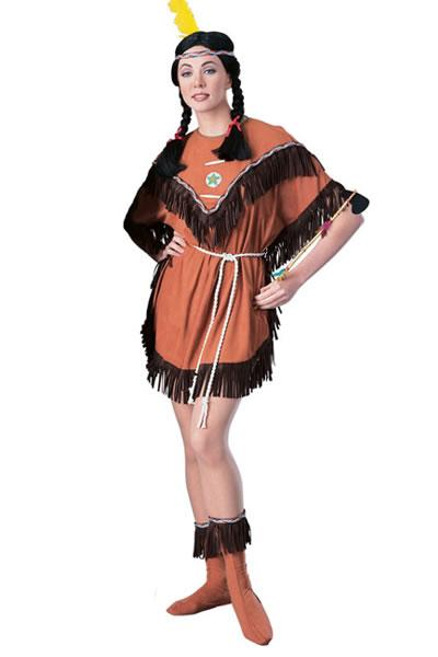 Indian Squaw Hire Costume