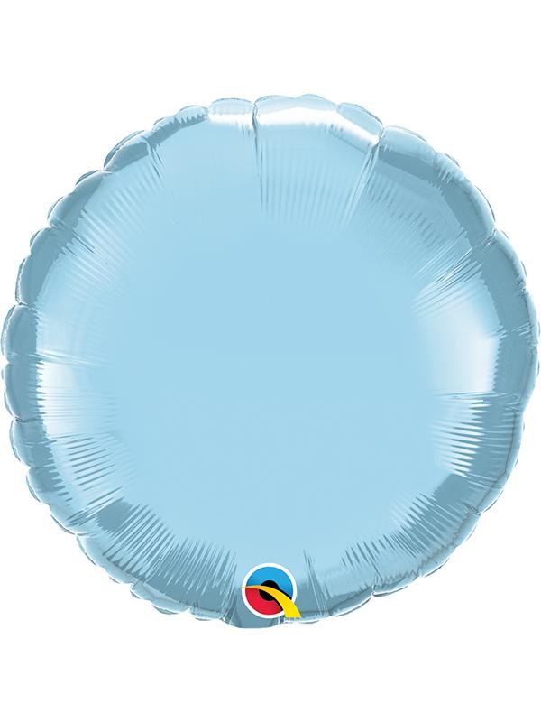 Foil Balloon Round Pearl Light Blue