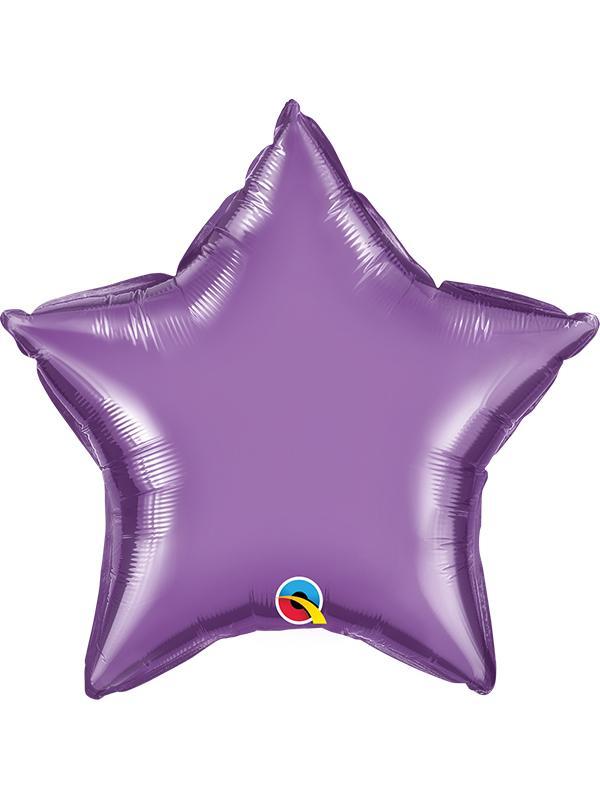 Foil Balloon Star Chrome Purple